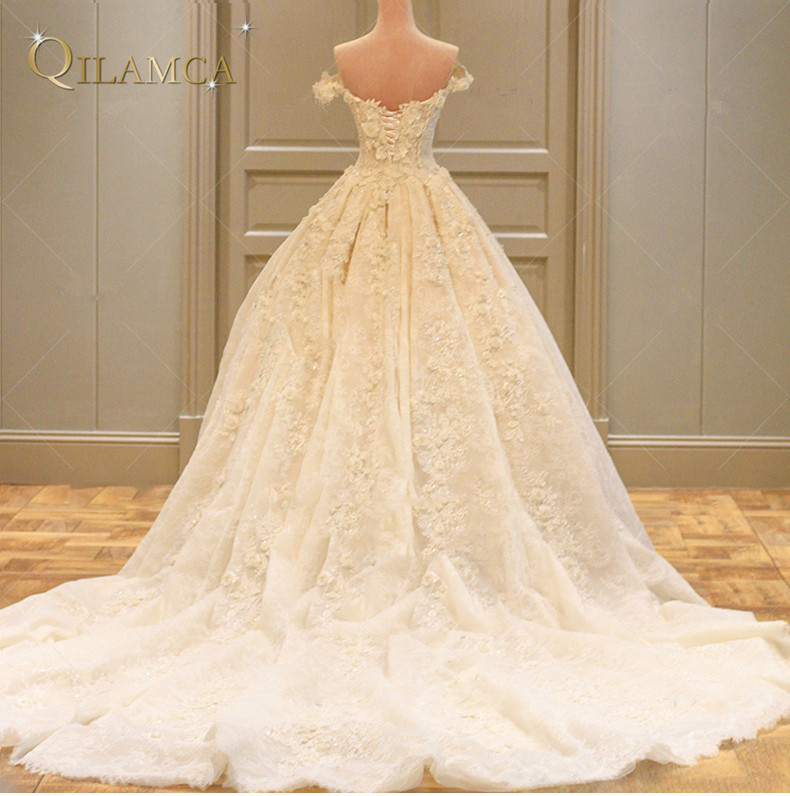Princess πραγματικό γαμήλιο φόρεμα 2017 Off - Γαμήλια φορέματα - Φωτογραφία 2
