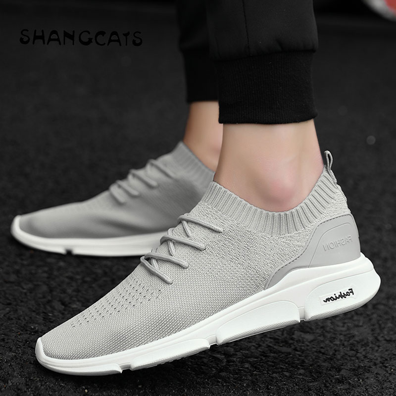 Sock Shoes Men Casual Shoes Woven Shoes Men Sneakers Without Lace Fashion For Men Flats Casual Men Shoes Tenis Masculino Adulto 201818 men s casual shoes apj