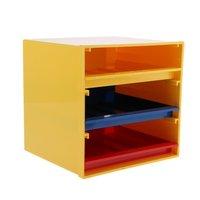 Mini Vehicles Model Figurines Display Stand Storage Box with Three Drawers DIY Holder Shelf Organizer Model Accessories