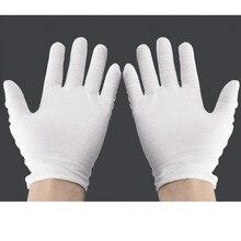 Белые защитные перчатки, 24 шт./лот, хлопковые рабочие защитные перчатки для сервировки/ожидания/водителей, защита труда, Etiquette YST001