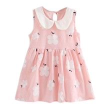 Kids Girls Dresses for Girls Summer Dress Cute Sleeveless Princess Dress Cotton Casual Dresses Costume kids girls summer dresses 2018 animals appliqued girls dress unicorn printed kids dresses for girls clothing princess costume child
