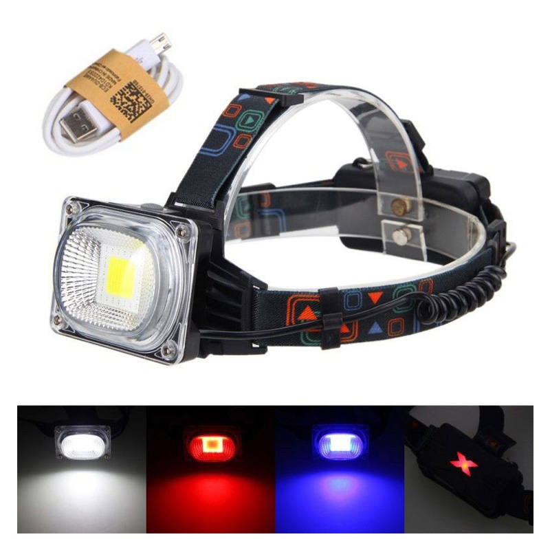 3000lm Cob Mini Wiederaufladbare Led Scheinwerfer Körper Motion Sensor Led Fahrrad Kopf Licht Lampe Outdoor Camping Taschenlampe Mit Usb