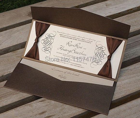 Aliexpresscom buy hi5006 personalized pocket fold for Wedding invitation folded envelopes
