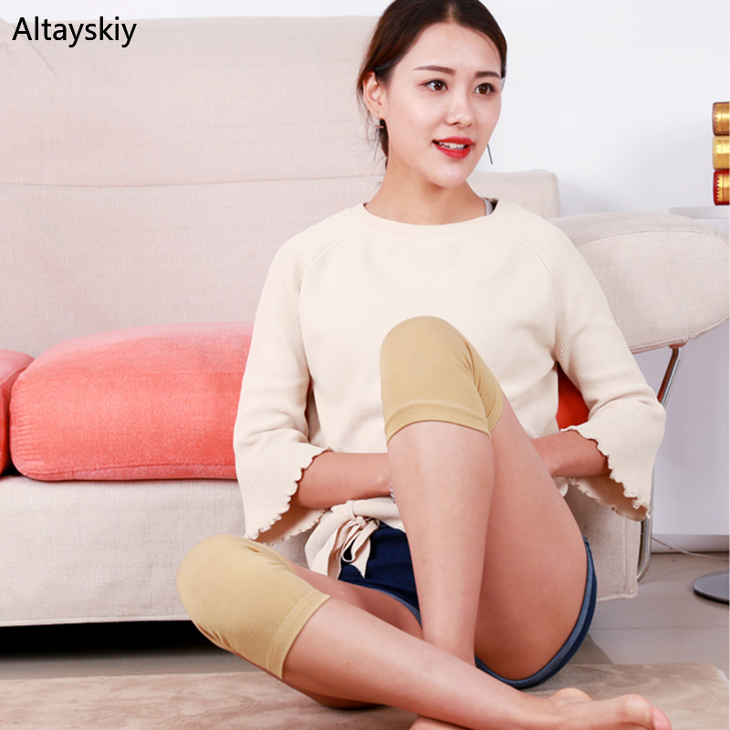 Knee Sleeve Women Thin Soft Simple Solid High Quality And Elasticity Cotton Breathable Womens All-match Korean Style Fashion
