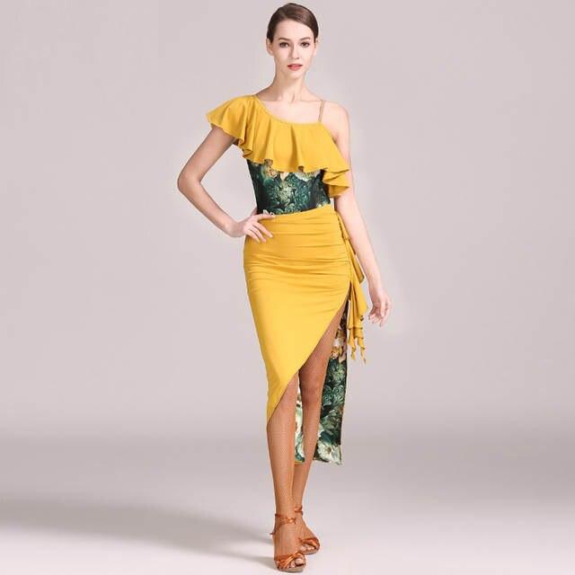 0ea0afc5c71 red woman latin dance dress to dance women latin dress yellow tango dress  Latina salsa dress