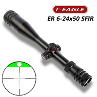 T Eagle ER 6 24X50SFIR Hunting Riflescope Side Parallax Glass Etched Reticle Turrets Lock Reset Built in huntinggun accessorie
