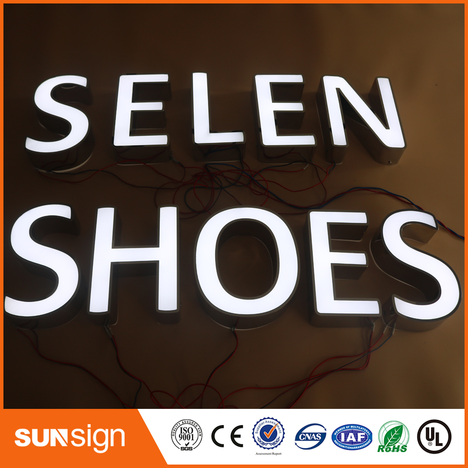 Aliexpress Custom Outdoor Advertising Front Lit Acrylic LED Letter Sign