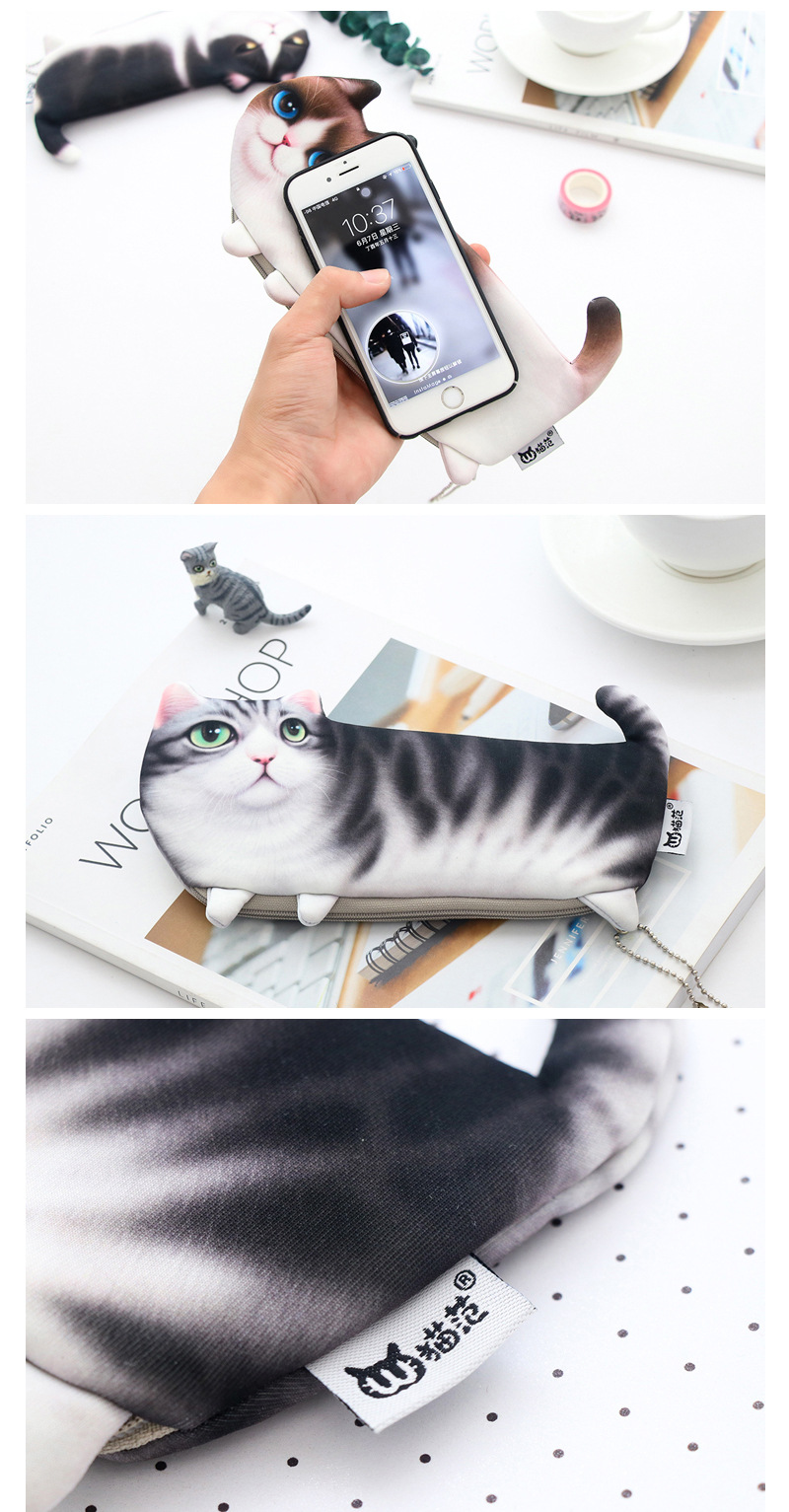 Cute Kitty School Pencil Pen Holder