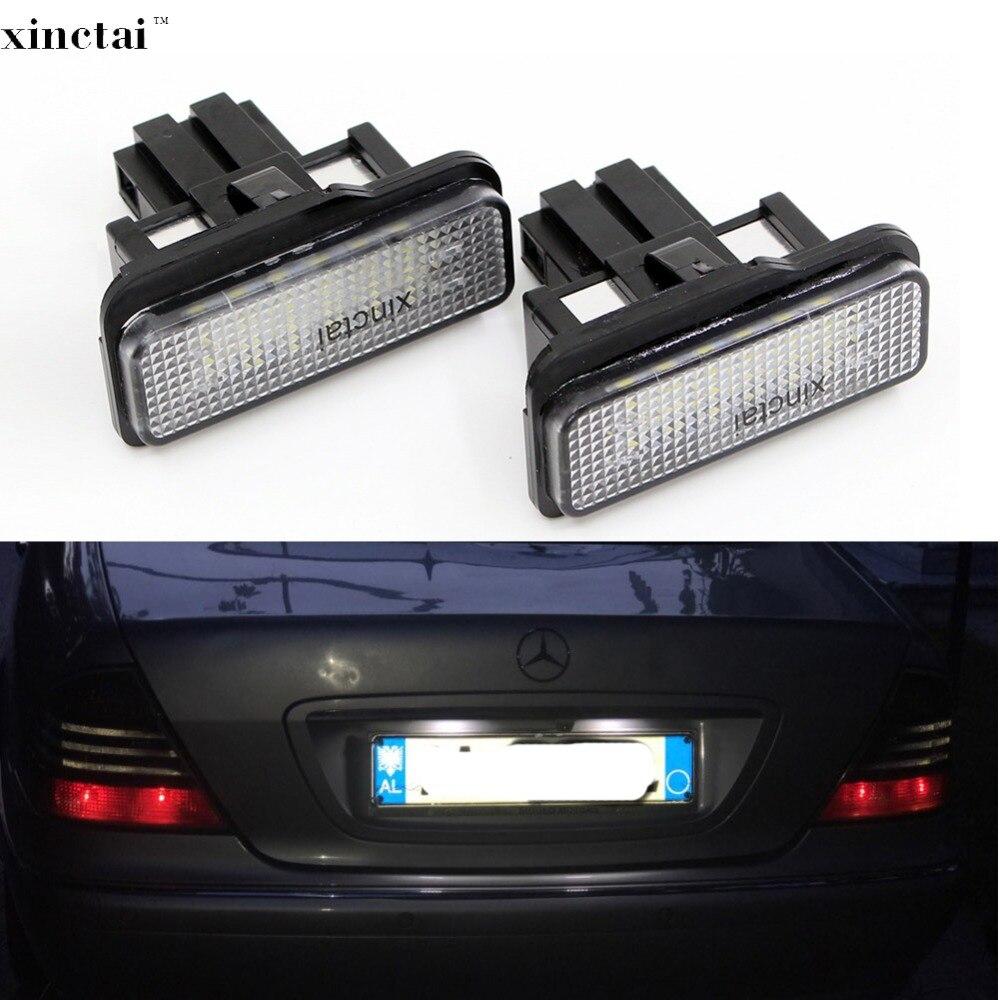 2 pcs Canbus Erro Livre O Número de LED License Plate Luz para Mercedes Benz Vagão W203 W211 W219 E550 E350 C230 C E Classe CL