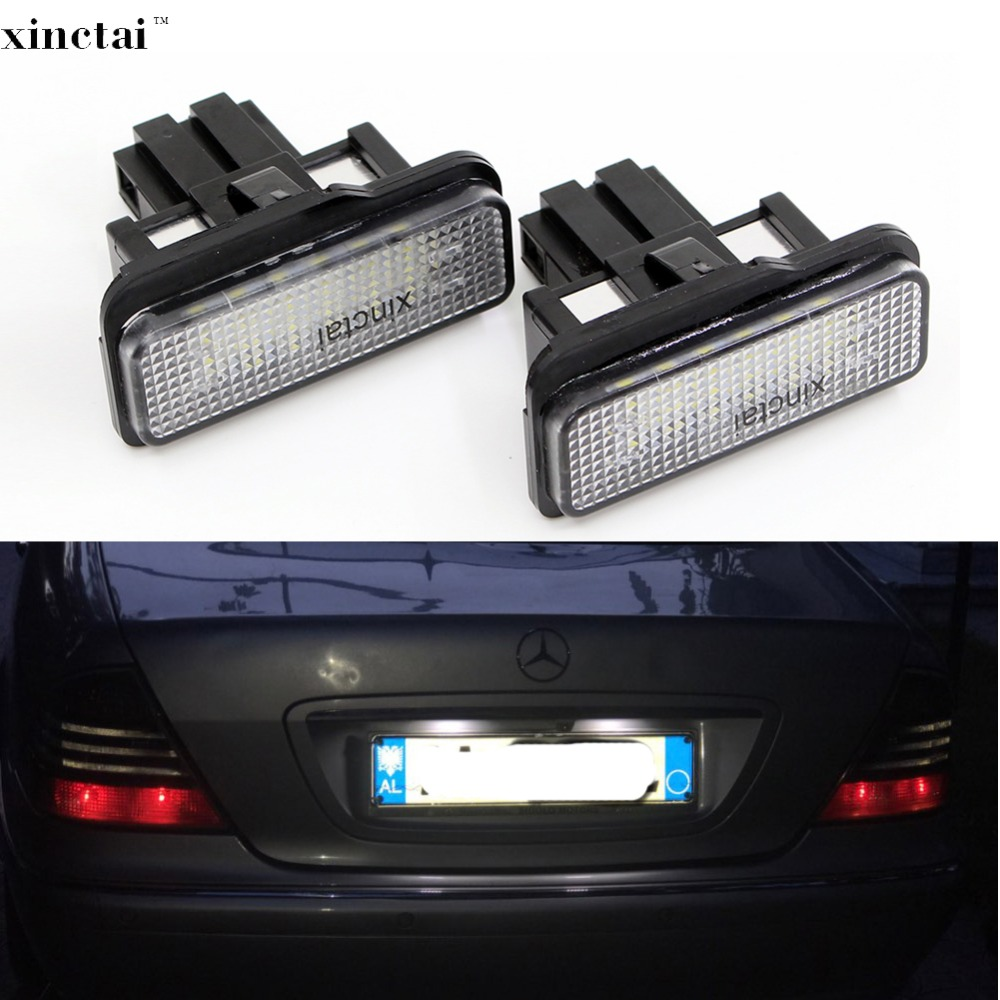 2PCS Canbus Error Free LED Number License Plate Light for <font><b>Mercedes</b></font> <font><b>Benz</b></font> W203 Wagon W211 W219 E550 E350 <font><b>C230</b></font> C E CL Class image