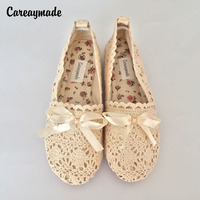 Careaymade-new Japanese style pure handmade lace shoes, women the retro art mori girl shoes,summer Flats shoes Free shipping