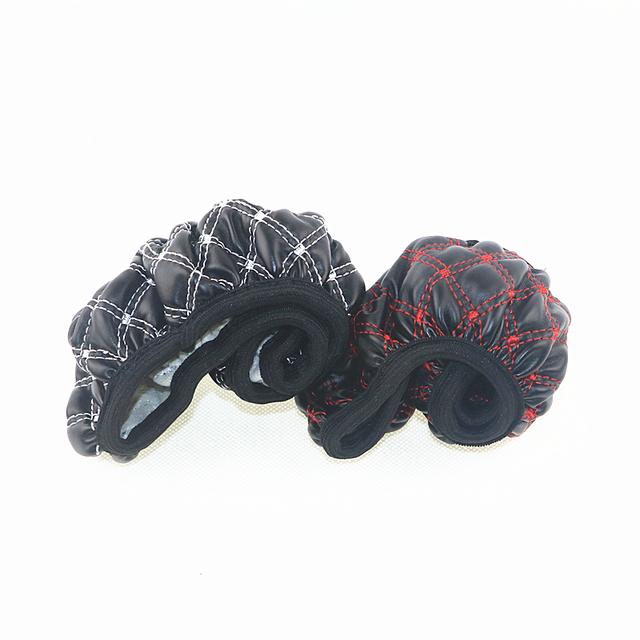 Cubierta de la rueda del automóvil Material de la PU cubierta del volante del coche Hubs elásticos negro blanco y negro rojo cubierta de la dirección envío gratis