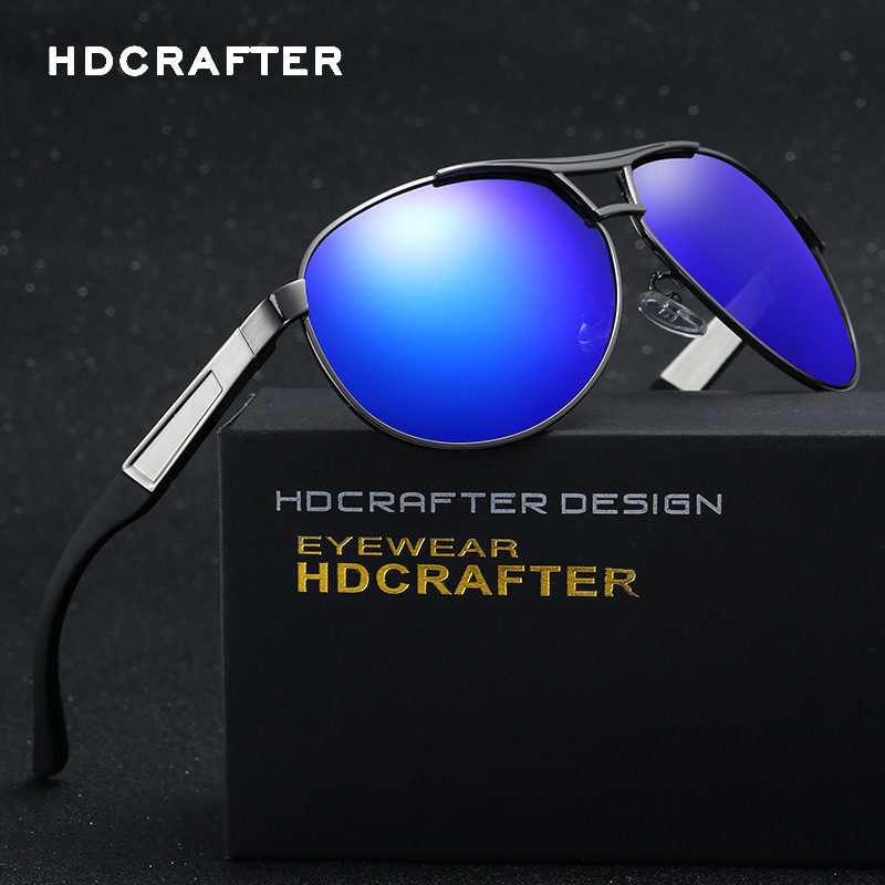 HDCRAFTER Brand Designer New 2019 Polarized Sunglasses Men Sports Vintage Sun Glasses Fashion Eyewear oculos de sol masculino