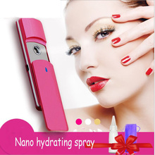 Water Meter Steaming Face Portable Nano Spray Water Meter Charging Hydrating Facial Water Purifier Cold Spray Machine sprayer charging nano spray water meter adjustable rotary nozzle head moisturizing hairdressing easy to use