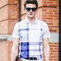 Brand Polos 2016 New Men's Polo Shirt Fashion Men Cotton Round Collar Short Color Gradient Short Sleeve Polo Shirt