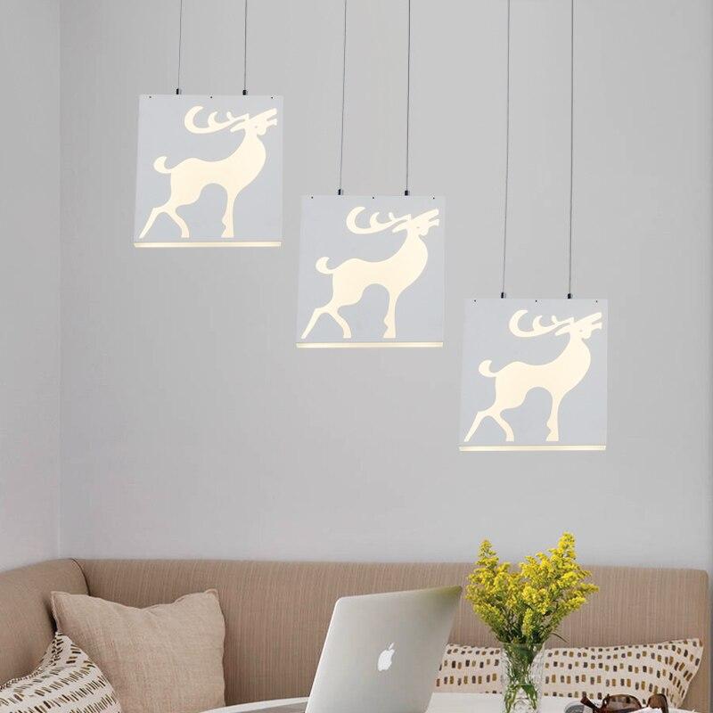 Современные светодиодный три головы подвесной светильник простой бар лампа дома живет Обеденная ресторан гостиной висит светильники