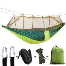 Hamac Parachute ultraléger chasse moustiquaire Double personne camping loisirs hamak livraison directe mobilier dextérieur hamac