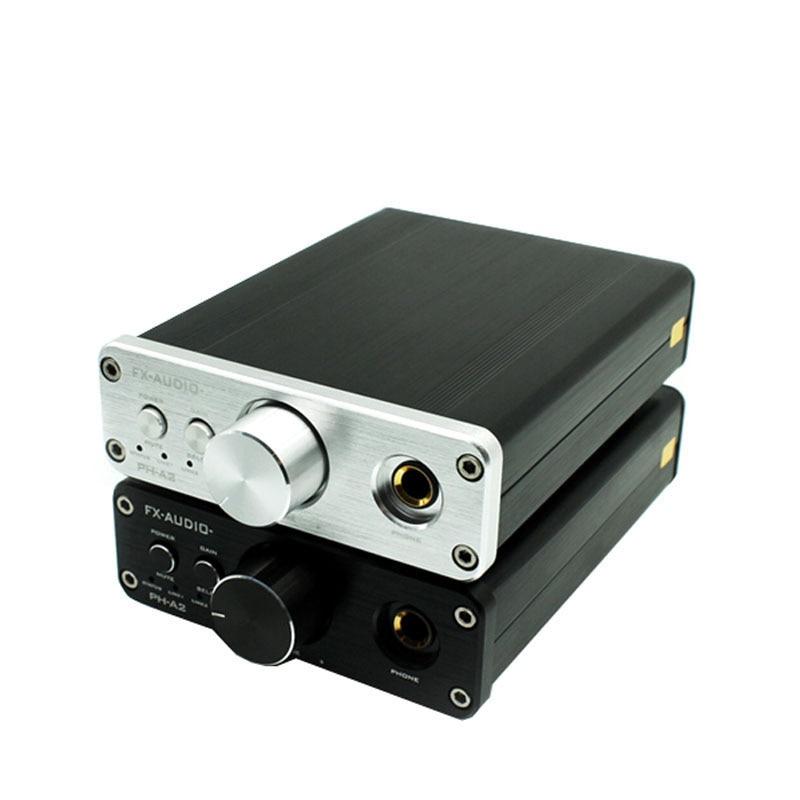 Lusya FX-AUDIO PH-A2 HiFi 2.0 Portable Headphone Audio Amplifier TPA6120A2 + OPA2604 16-600ohm Headphone Amplifier topping nx3 portable earphone hifi stereo audio amplifier amp tpa6120a2 opa2134