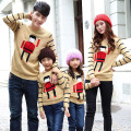 Matching Family Clothing 2016 Spring Autumn Winter Family Look Sweaters Matching Mother Daughter Father Son Catoon Sweater