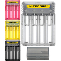 Nitecore Q4 Cute Battery Charger for 18650 Charger 18350 14500 16340 RCR123 26650 IMR Li ion/12V Input for A AA AAA Batteries
