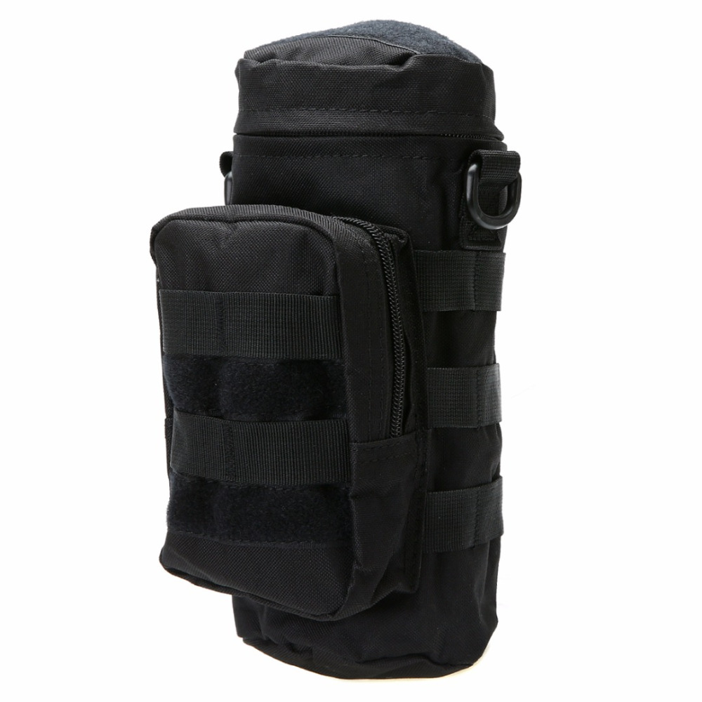 Tactical Military Molle Water Bottle Bag Kettle Pouch Holder w// Zipper MC