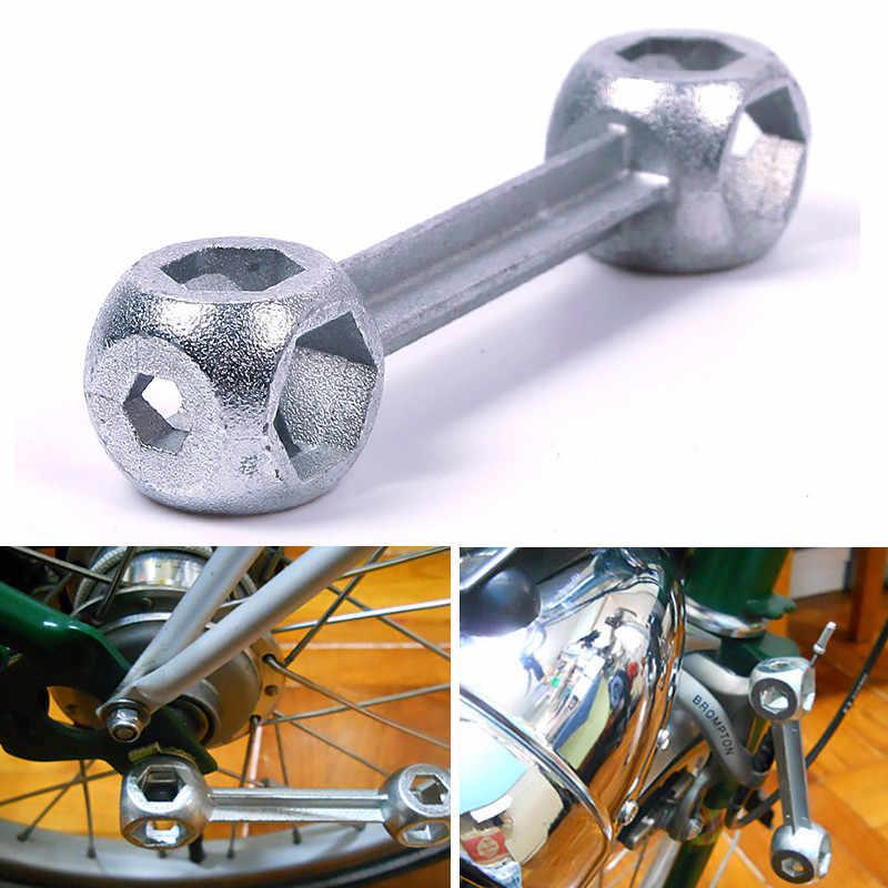 Kunci Pas Serbaguna Gantungan Kunci Sepeda Siklus Kunci Skuter Garasi Gadget Multi Alat Perbaikan Saku Mini Hexagon