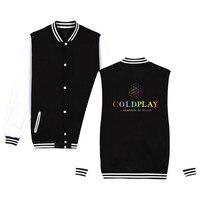New Hot Sale Top banda Coldplay Britpop Alternative Rock de Algodão Uniforme de Beisebol Das Mulheres Dos Homens Outono Casual Roupas Belo Vestido 3xl