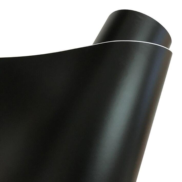 Матовый металлический хромированный виниловая пленка для автомобиля с воздушным пузырьком фиолетовая атласная металлическая наклейка из фольги для автомобиля обертывание ping покрытие - Название цвета: Black