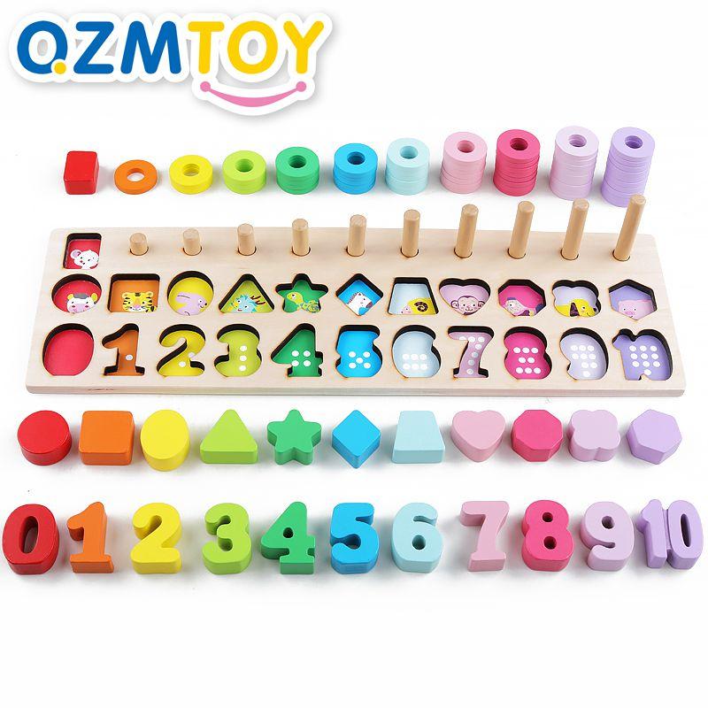 brinquedos infantis brinquedos de madeira contando formas geometricas jogo cognicao animal materiais montessori matematica brinquedos educativos