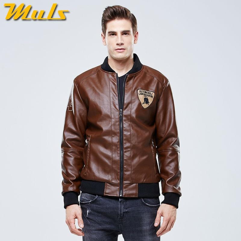 Autumn Man Parka Pu Leather Jackets Men Coats Winter Warm Motorcycle