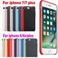 Calidad original oficial de silicona case para apple iphone 6 s plus case para iphone 7 plus cubre los casos para iphone 6 case retail caja