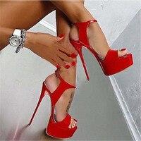 Hot Sale Plus Size 35 46 Summer Women High Heels Sandals Sexy 17CM Stripper Platform Pumps Party Wedding Shoes Woman Sandals