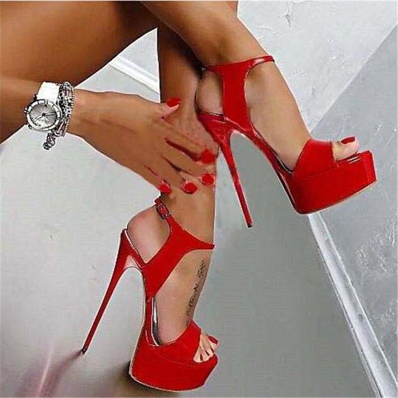 Vendita calda Più Il Formato 35-46 Donne di Estate Degli Alti Talloni Dei Sandali Sexy 17 cm Stripper Pompe Della Piattaforma Del Partito di Nozze scarpe da Donna Sandali