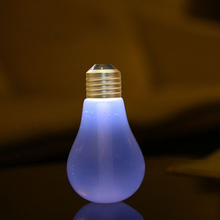 USB ultrasonic humidifier home office Mini aromatherapy colorful LED night light bulb aromatherapy atomizer creative bottle