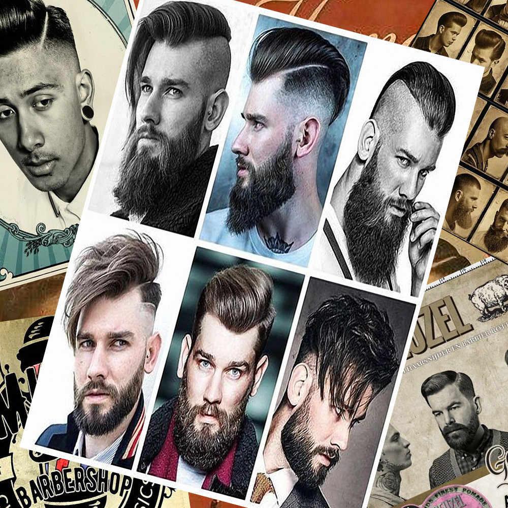 Парикмахерская татуировки плакаты стены стикеры 30X42 см Ностальгия Ретро kraft бумага HD струйной печати книги по искусству Парикмахерская украшения