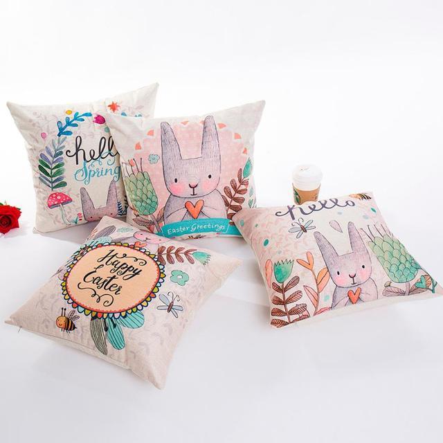 Cuscino di Pasqua Coperture per Cuscini s covers lettera cuscini Del Fumetto Fel