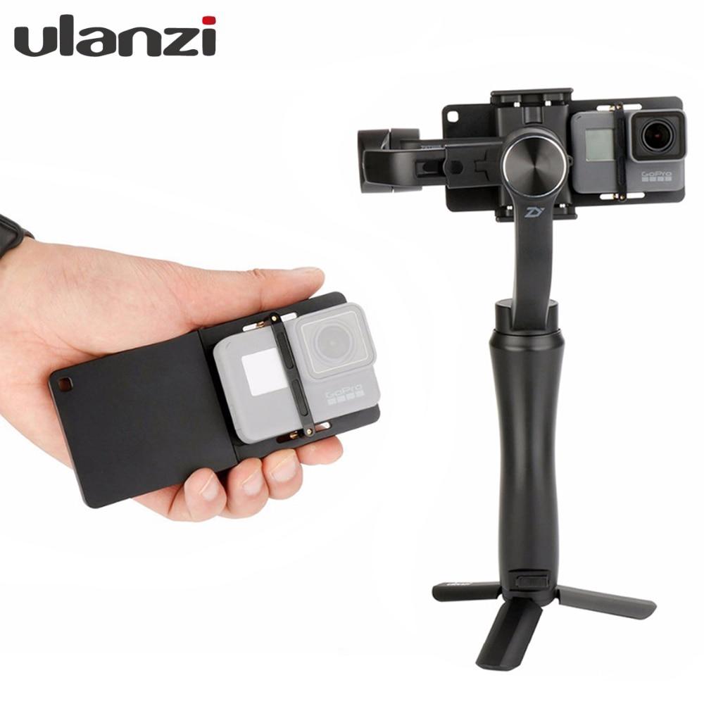 Lisse Q D'action Caméra Adaptateur pour GoPro 6/5/4, SJCAM SJ7, xiaoyi, Commutateur Montage plaque pour Zhiyun Lisse 4 DJI Ocmo Feiyu Vimble 2