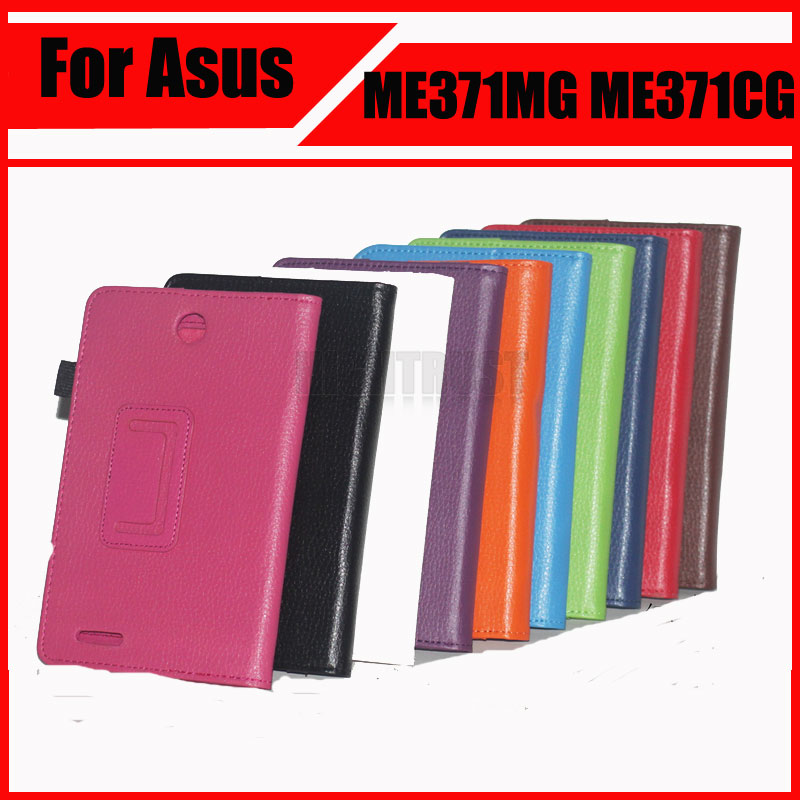 все цены на  3 in 1 Wholesale High Quality Pu Leather Folding Case Cover Stand For ASUS FonePad ME371 ME371MG ME371CG + Screen film + Stylus  онлайн