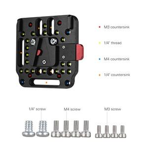 Image 4 - V Lock Assembly Kit Quick Release Plate Set Based on the Standard V Lock Camera Rig   1846 for V Mount Battery 2018 New