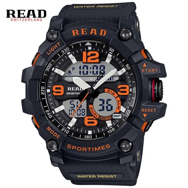 READ Sport Watch Men Clock Male LED Digital Quartz Wrist Watches Men's Top Brand Luxury Digital-watch Relogio Masculino 90001