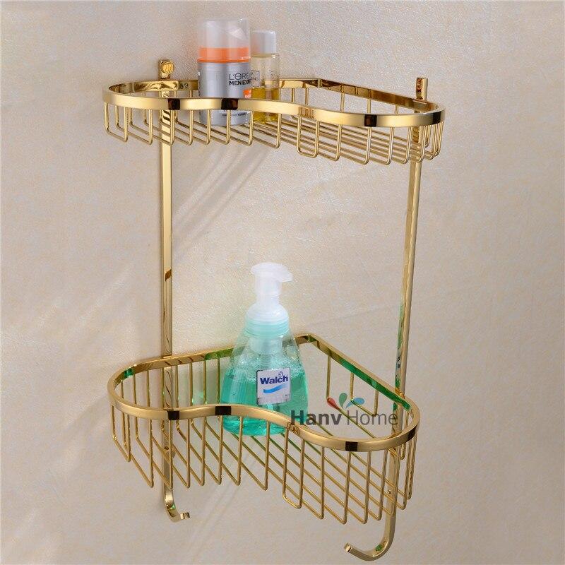 Aliexpress.com : Buy Luxury 2 Layer Gold Stainless Steel Bathroom ...