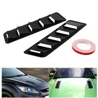 3D Hood Vent Pair Vents Air intake Scoop Bonnet Louvers Spoiler Trim for Bmw Golf Nissan AMG Ford Mustang Subaru Car Stickers