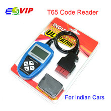 High Quality Auto Scanner for Indian cars T65 Indian OBDII OBD2 EOBD auto code reader  Free Shipping