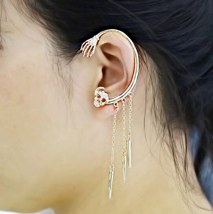 2017 New Ear Clip Cuff Wrap Earrings Top Grade Skull Design Full For Women S Party Jewelry In From