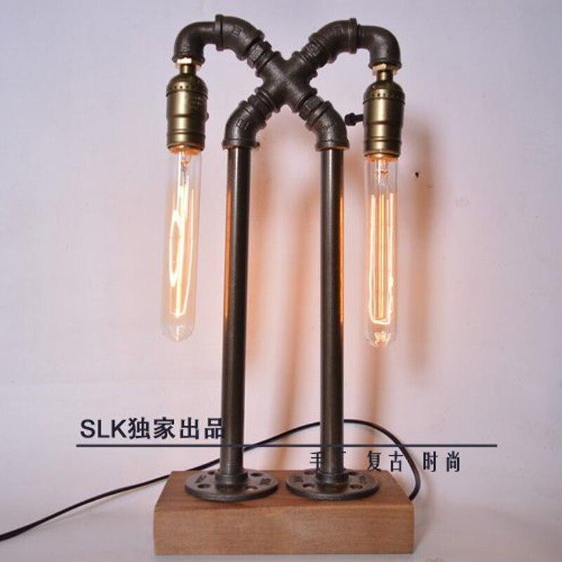 industrial Mesa acero estilo Edison Vintage retro lámpara CerdxBo