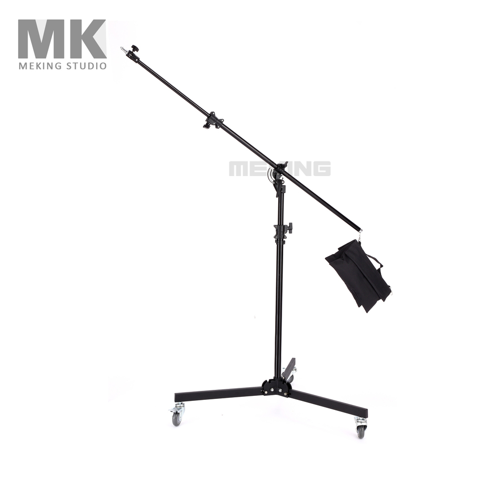 Meking Multi Function Light Boom stand Double Duty with Sand Bag 380cm 12ft M 4 support