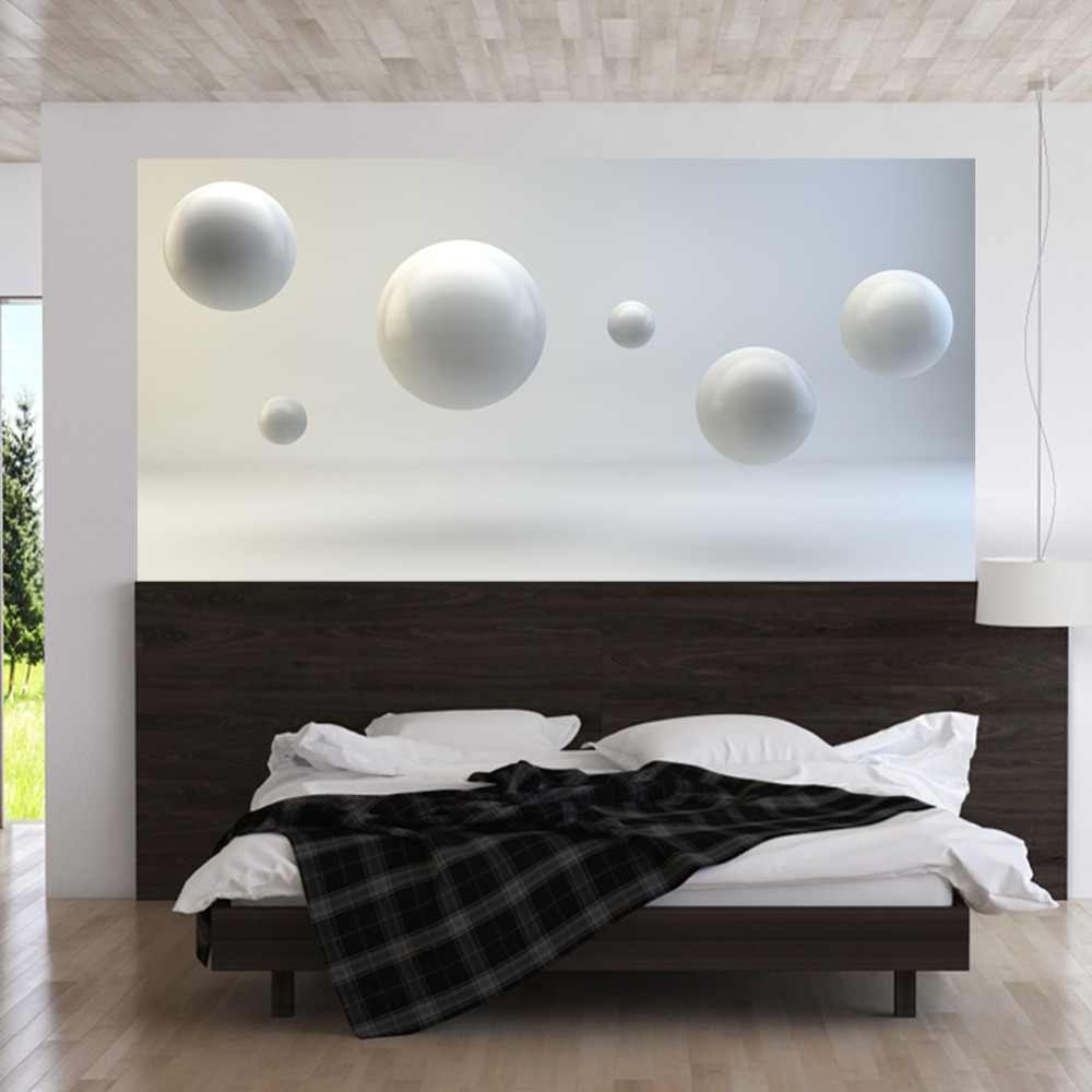 White Balls Geometric Wall Sticker Bed Head Stickers White Round Ball Decals Wall Sticker Living Room Bedroom Fashion Decoration