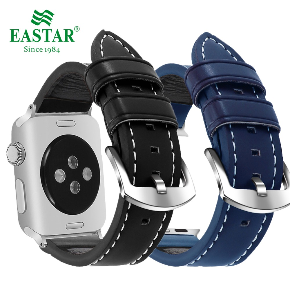 Eastar Three Color PU Leather Watchband for Apple Watch Band Series 3/2/1 Sport Bracelet 42 mm 38 mm Strap For iwatch Band