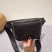 цены Alligator Leather Waist Bag Women Luxury Phone Pouch Fanny Pack for Women Chest bag Female Waist Pack Ladies Heuptas Pochete