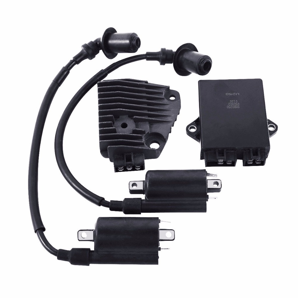 Motorcycle CDI Box Ignition Regulator Coil Set For Yamaha XV250 250 Route 66 XV250 Virago